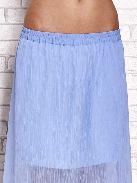 Jasnoniebieska transparentna spódnica maxi                                  zdj.                                  5