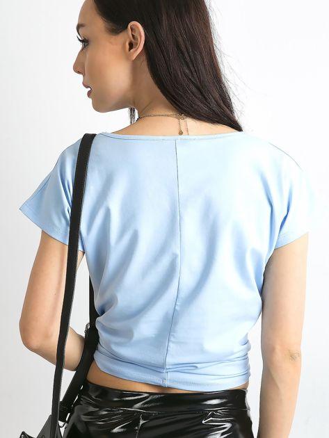Jasnoniebieski t-shirt Circle                              zdj.                              2