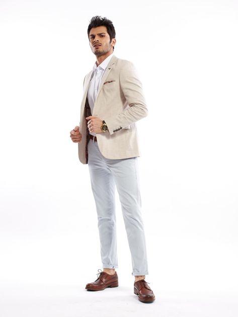 Jasnoniebieskie bawełniane spodnie męskie                               zdj.                              13
