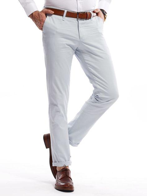 Jasnoniebieskie bawełniane spodnie męskie                               zdj.                              3