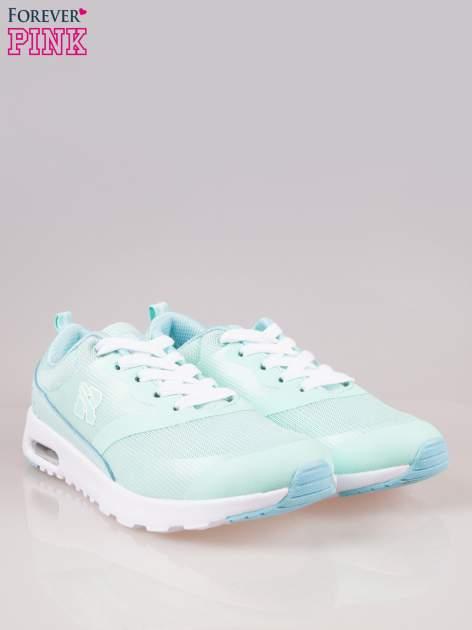 Jasnoniebieskie buty sportowe damskie z siateczką i poduszką powietrzną w podeszwie                                  zdj.                                  2