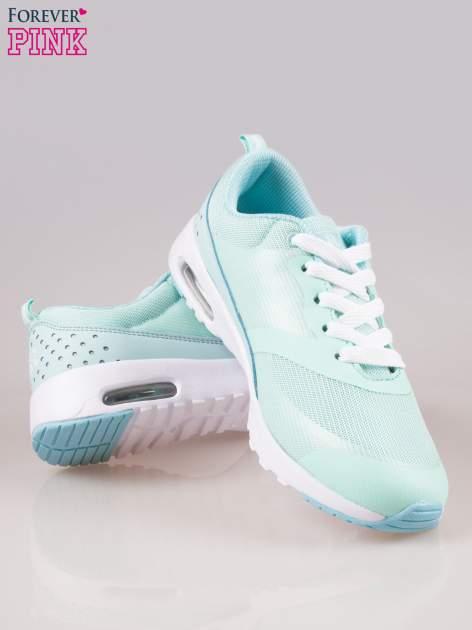 Jasnoniebieskie buty sportowe damskie z siateczką i poduszką powietrzną w podeszwie                                  zdj.                                  4