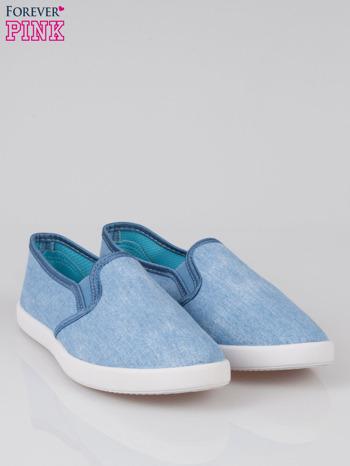 Jasnoniebieskie jeansowe buty slip on