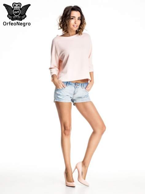 Jasnoniebieskie jeansowe szorty z wytarciami                              zdj.                              6