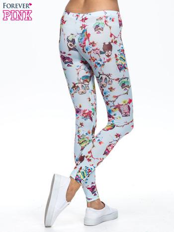 Jasnoniebieskie legginsy z motywem sowy                                  zdj.                                  4