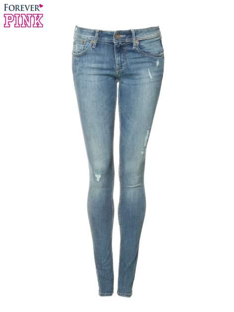 Jasnoniebieskie spodnie typu skinny jeans z przetarciami                                  zdj.                                  5