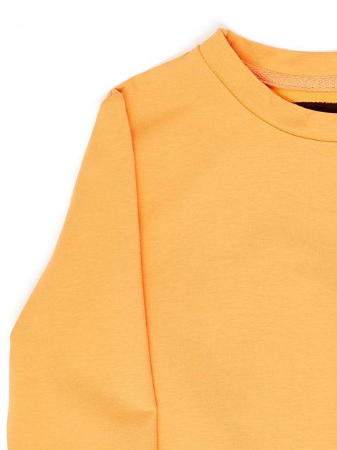 Jasnopomarańczowa bluza młodzieżowa                              zdj.                              3