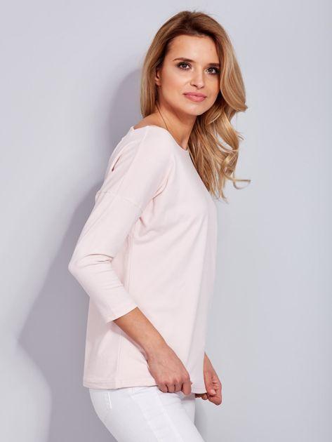 Jasnoróżowa asymetryczna bluzka z babeczką                              zdj.                              5