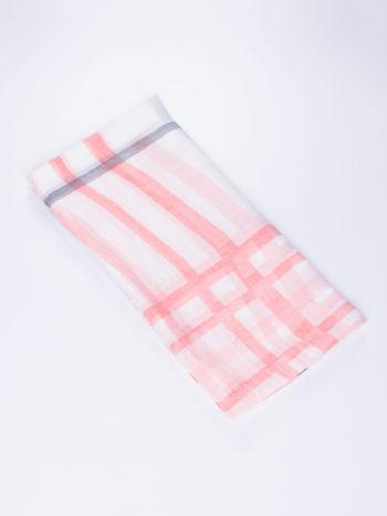 Jasnoróżowa bawełniana chustka z frędzelkami                                  zdj.                                  2