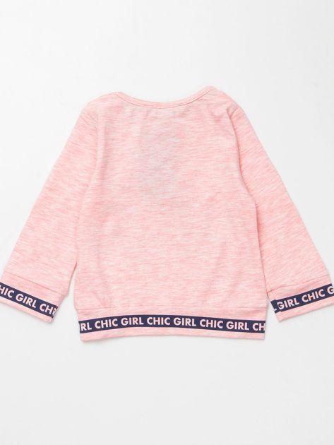 Jasnoróżowa bluzka dla dziewczynki z perełkami                              zdj.                              3