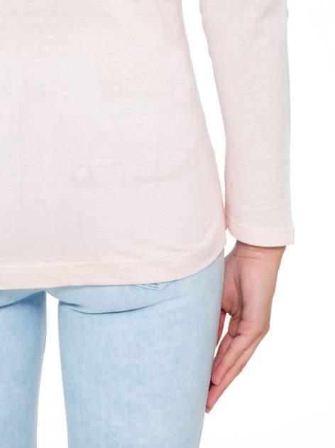 Jasnoróżowa bluzka z brokatowym napisem FASHION FLOWERS                                  zdj.                                  10
