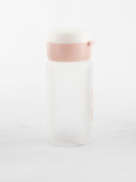 Jasnoróżowa ekologiczna butelka bidon z napisem                              zdj.                              5