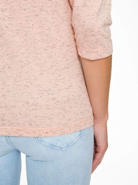 Jasnoróżowa melanżowa bluzka z rękawami 3/4                                  zdj.                                  9
