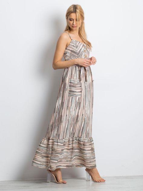 Jasnoróżowa sukienka City break                              zdj.                              3