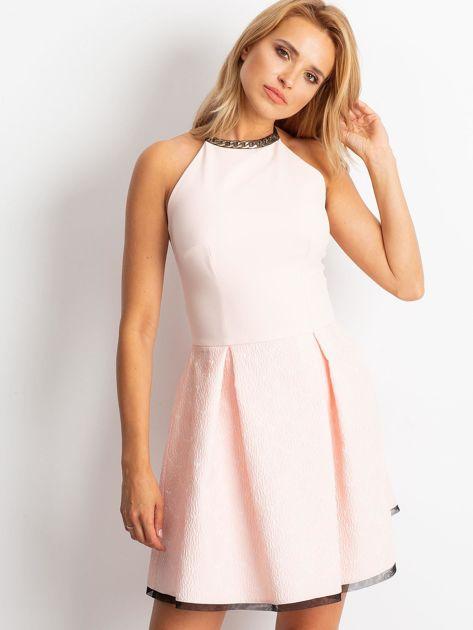 Jasnoróżowa sukienka Kim                              zdj.                              1