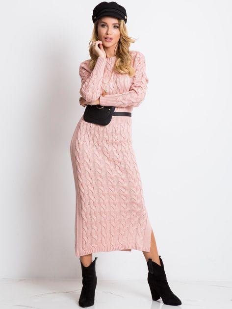 Jasnoróżowa sukienka Time                              zdj.                              1