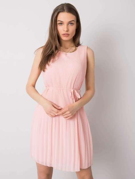 Jasnoróżowa sukienka plisowana Monza SUBLEVEL