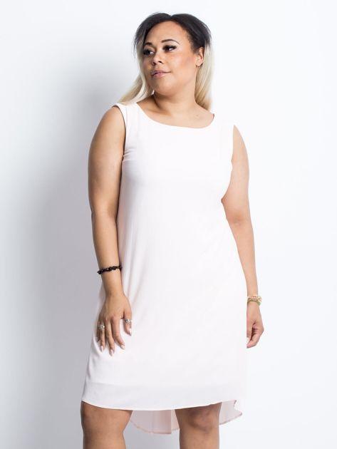 Jasnoróżowa sukienka plus size Felice