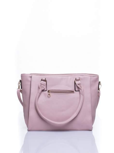 Jasnoróżowa torba shopper bag z odpinanym paskiem                                  zdj.                                  3
