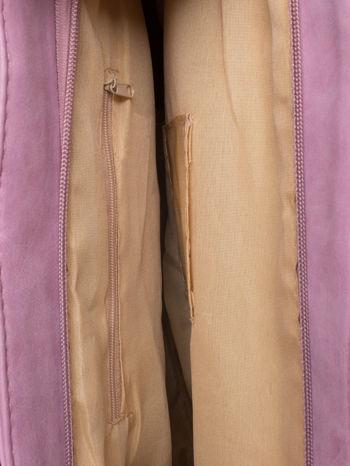 Jasnoróżowa torba shopper bag z zawieszką                                  zdj.                                  5