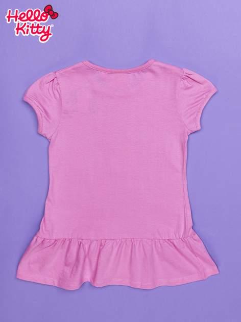 Jasnoróżowa tunika dla dziewczynki nadruk HELLO KITTY                                  zdj.                                  2