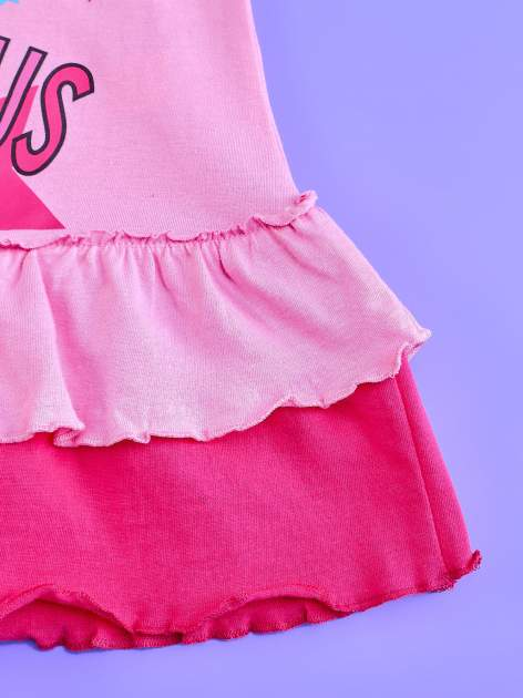 Jasnoróżowa tunika dla dziewczynki z motywem HELLO KITTY                                  zdj.                                  5