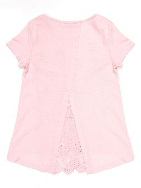 Jasnoróżowa tunika dla dziewczynki z motywem łąki                              zdj.                              2