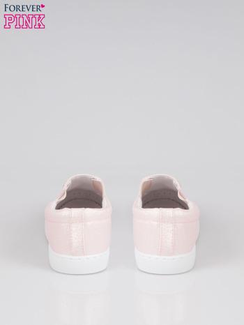 Jasnoróżowe buty sliponki glitter                                  zdj.                                  3