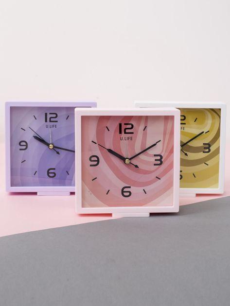 Jasnoróżowy kwadratowy zegarek                              zdj.                              4
