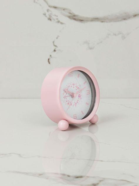 Jasnoróżowy zegarek stołowy                              zdj.                              7