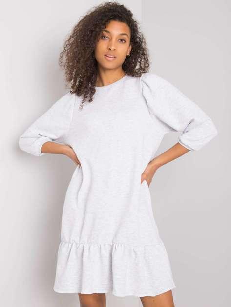 Jasnoszara melanżowa sukienka Adoria RUE PARIS