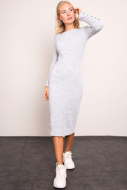 Jasnoszara sukienka BSL