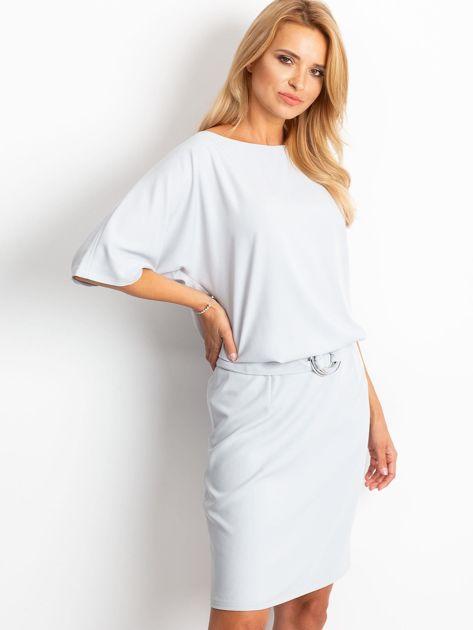 Jasnoszara sukienka Soft                              zdj.                              1
