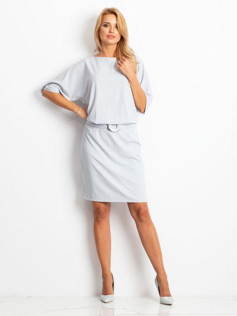 Jasnoszara sukienka Soft                              zdj.                              4