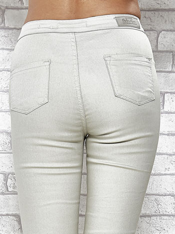 Jasnoszare spodnie rurki skinny                                  zdj.                                  7