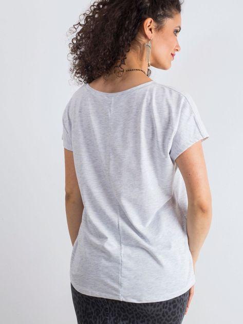 Jasnoszary melanżowy t-shirt Emory                              zdj.                              2