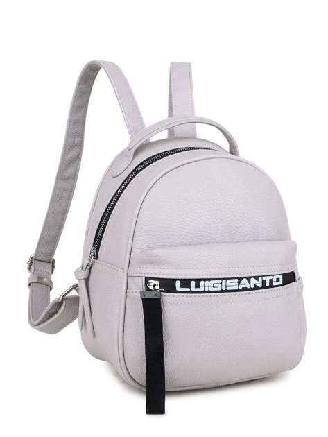 Jasnoszary plecak damski z ekoskóry LUIGISANTO