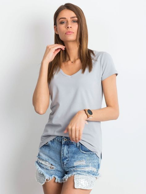 Jasnoszary t-shirt Square