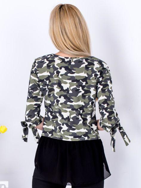 Jasnozielona bluzka moro z koszulą                              zdj.                              2