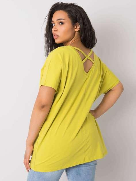 Jasnozielona bluzka plus size Lenora