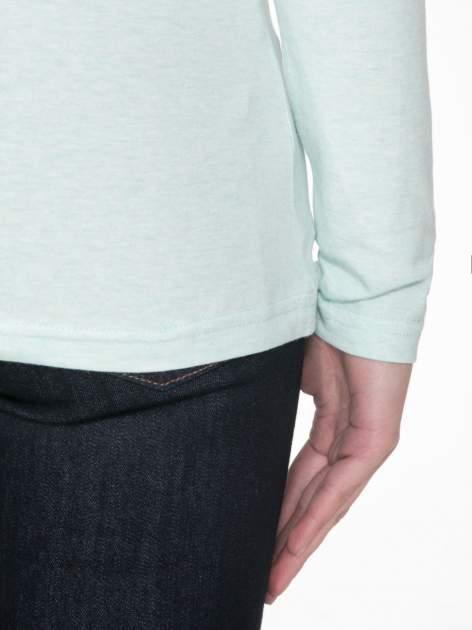 Jasnozielona gładka bluzka z reglanowymi rękawami                                  zdj.                                  8