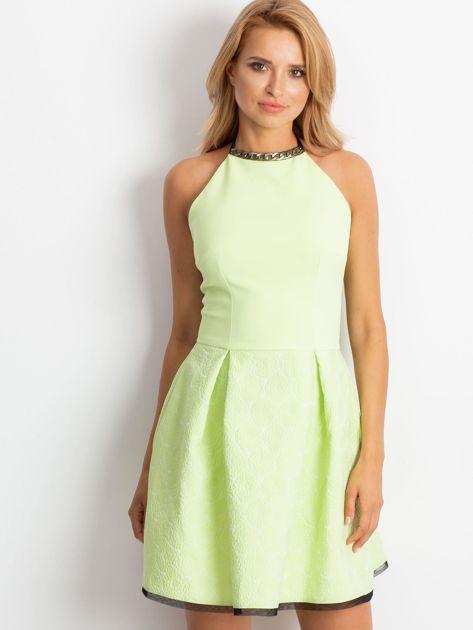 Jasnozielona sukienka Kim                              zdj.                              1