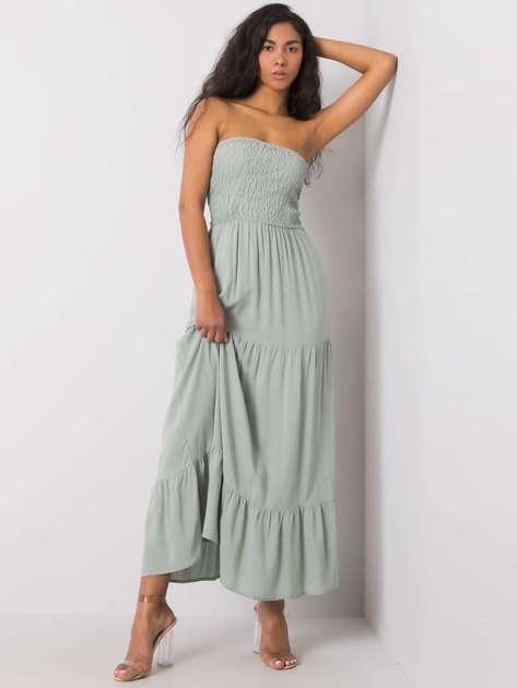 Jasnozielona sukienka maxi Giuseppina FRESH MADE