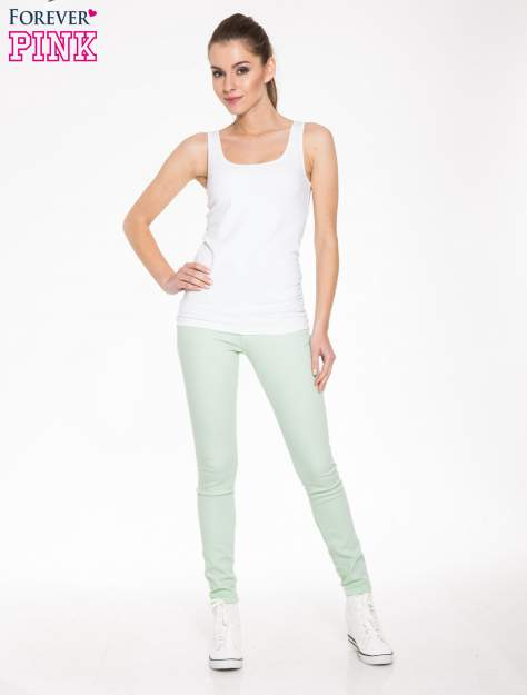 Jasnozielone spodnie jeansowe typu rurki                                  zdj.                                  4