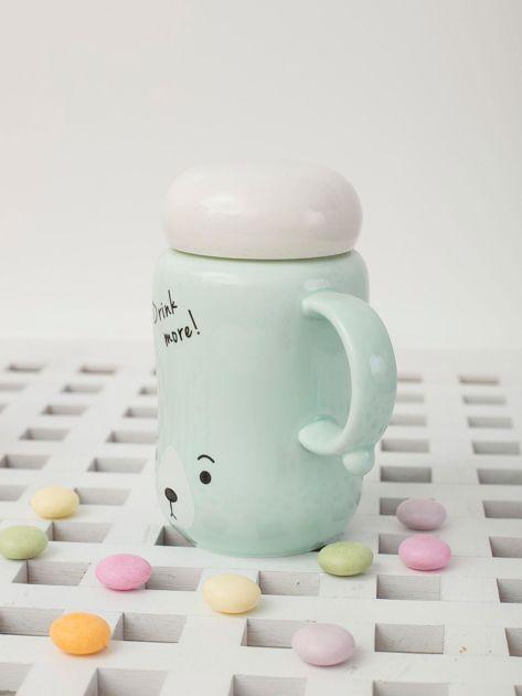 Jasnozielony ceramiczny kubek zamykany                              zdj.                              3