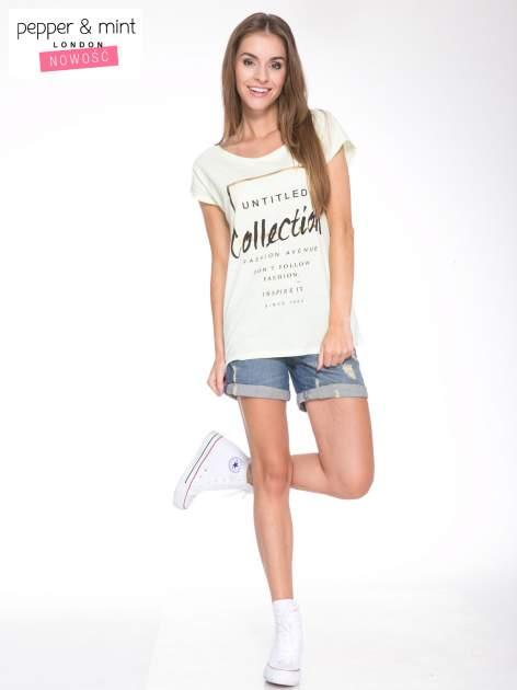 Jasnozielony t-shirt z nadrukiem UNTITLED COLLECTION                                  zdj.                                  5