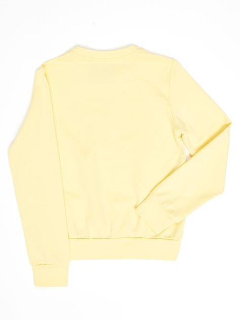 Jasnożółta bluza młodzieżowa                              zdj.                              2