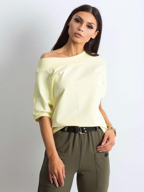 Jasnożółta melanżowa bluzka Lemontree                              zdj.                              3