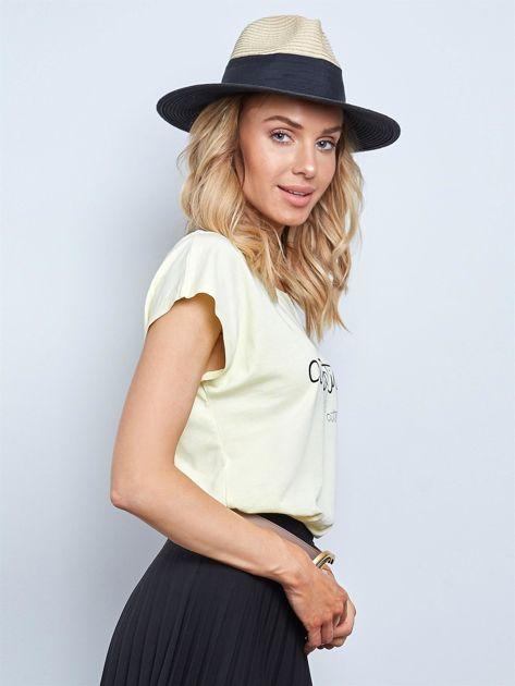 Jasnożółty t-shirt Authentic                              zdj.                              3
