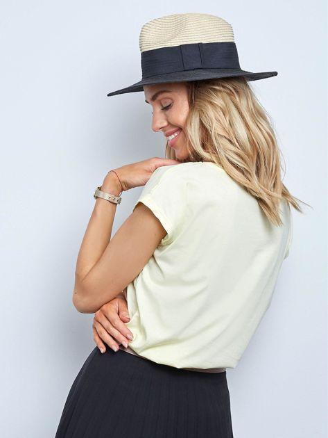 Jasnożółty t-shirt Authentic                              zdj.                              2